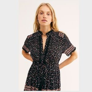Free People Rare Feeling Maxi Dress Black Floral